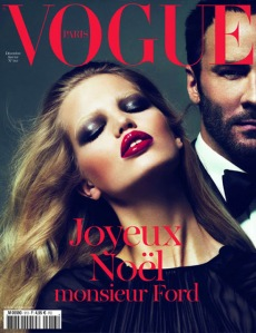 Sharing a Vogue cover with Tom Ford