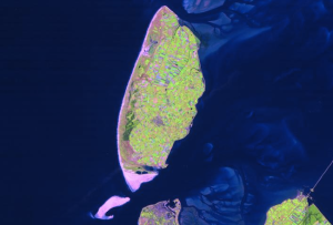 Texel from space, thanks to ESA/NLR
