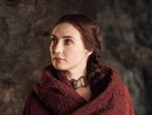 Carice in Game of Thrones - with her clothes on