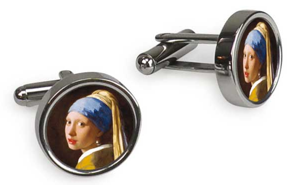 girl with a pearl earring cuffllinks