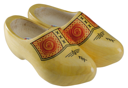 A traditional pair of Dutch clogs... for tourists