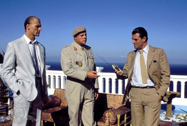 Jeroen Krabbe (far right) in The Living Daylights. Photo: Metro-Goldwyn-Meyer